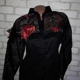 Нарядная рубашка с вышивкой р 46