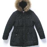 Теплая куртка с капюшоном для девочки 8-9 лет