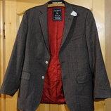 Фирменный твидовый пиджак с контрастной отделкой Jackett & Sons 48 р.
