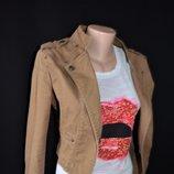Стильный котоновый пиджак защитного цвета