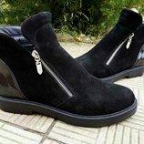 Женские замшевые ботинки,деми и зима