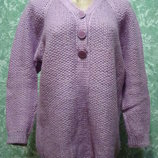 Свитер вязаный фиолетовый
