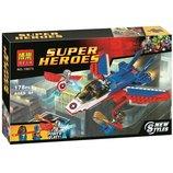 Конструктор Bela 10673 Воздушная погоня Капитана Америка 178 деталей аналог Lego Super Heroes 76076