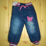 Детские утепленные джинсы на травке для девочки рр. 86-110 Beebaby Бибеби