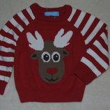 кофта свитер хб вязка 12-18 мес мальчику 1 - 2 года большой выбор одежды 1-16лет
