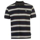 Lonsdale футболка рубашка поло в полоску темно-синяя / коричневая / серая . Англия. Оригинал.
