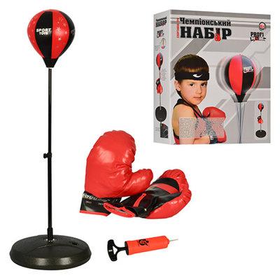 Детский боксерский спортивный набор 1072 боксерская груша и перчатки от 80 до 110см