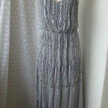 Платье вечернее вышивка бисер Lace&Beads р.46 7651