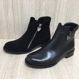 женские Ботинки кожанные