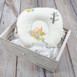 Ортопедическая подушка для новорожденных с держателем для соски