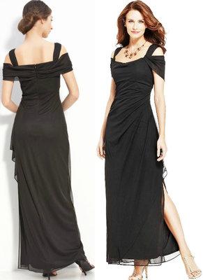 894c9eb0383 Брендовое вечернее платье в пол 10р USA из черного шифона  1700 грн ...