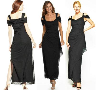 6eb3712b9b3 Брендовое вечернее платье в пол 10р USA из черного шифона. Previous Next