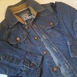 Фирменная джинсовая рубашка 12-18 мес.