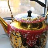 чайник под хохлому новый