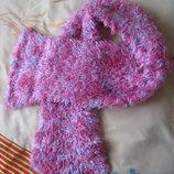 Мега мягкий и супер приятный шарф очень теплый, травка, зимний и пушистый