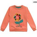Свитшот с начесом, расцветки, Свитер, Джемпер, Тёплая кофта на девочку, р.104-110-116-122-128