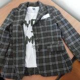 Костюм школьный девочке 11-12 лет 152 см Zara Зара пиджак кофта оригинал фирменный клетка