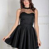 Платье с фатином, выпускной, праздничное