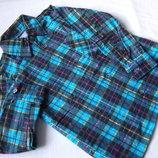 Рубашка толстая фланель рост 98-110