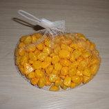 Камень декоративный 0.5 кг - цвет Оранжевый