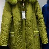 Зимняя куртка с натуральным мехом 62р батал