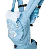 Эрго рюкзак-переноска Якорь с сеточкой для проветривания спинки голубой