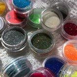 Набор сухих блесток для декора 6 шт глиттер для нейл арт для блеск-тату для дизайна ногтей