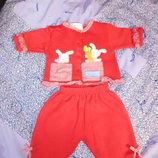 Тепленький костюмчик на флисе для малышек