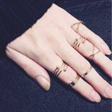 Набор колец на пальцы и фаланги золотые завитки 6 штук