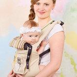 Эрго рюкзак My baby бежевый