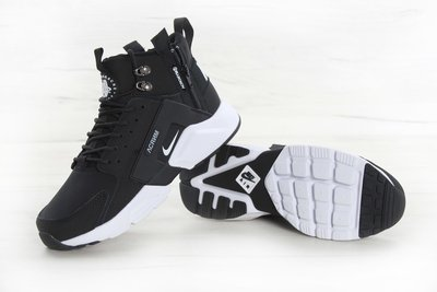 cheap for discount 12f0d f1cef Кроссовки мужские Найк Nike Huarache X Acronym City MID Leather Black/White