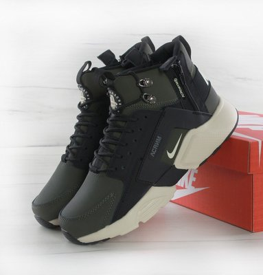 8897767f Кроссовки мужские Найк ACRONYM x Nike Huarache X Acronym City MID Leather  Haki Black