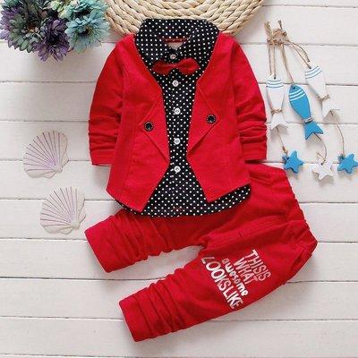Нарядный костюм с бабочкой для мальчика на праздник, красивый и модный Красный, синий, серый
