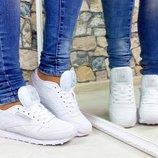 Женские натуральные кожаные кроссовки Reebok копия