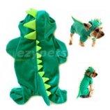 плюшевый костюм динозаврика на домашнего любимца Asonpet оригинал