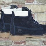 Женские и подростковые стильные зимние ботинки Timberland Тимберленд натуральная замша