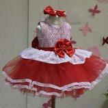 Нарядное пышное платье Карамелька