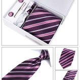 Набор галстук бордо в подарочной упаковке код GB015