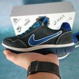 Детские кожаные кроссовки Nike Синий голубой