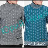 Вязаный теплый свитер с узором мужской Украинский производитель