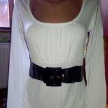 Шикарное белое платье,вискоза с поясом Германия