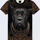 Крутая 3D футболка Пёс