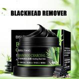 Черная очищающая маска с бамбуком для глубокого очищения лица