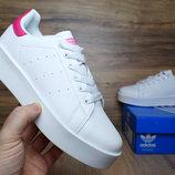 Кроссовки женские Adidas Stan Smith white/pink