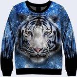 Стильный 3d свитшот Белый тигр Большой выбор