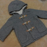 Теплое, флисовое пальтишко George на модника 6-9 месяцев