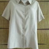 Блуза летняя в стиле сафари , новая. размер 50-52