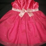 Яркое платье H&M 2-3г,