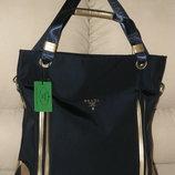 Очень красивая ультрамодная стильная женская сумка шопер Prada ,новая с бирками в наличии