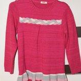 Тёплое вязанное платье на девочку 116 размер.